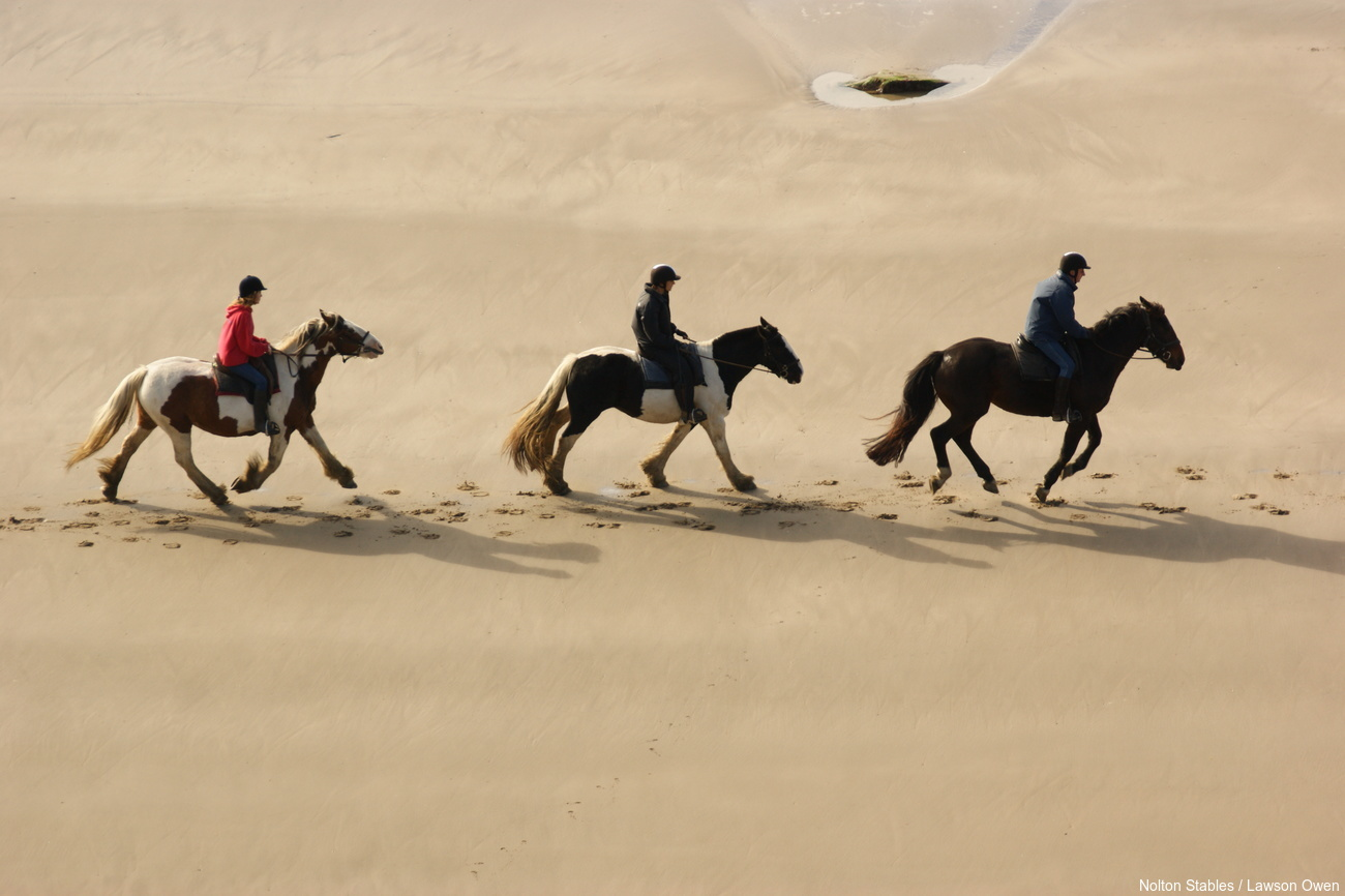 Wales Corporate Travel Team Building, Horse Riding on the beach, North Wales